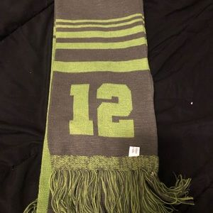 Seahawks gray  and green scarf